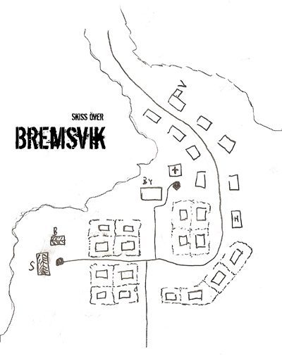Skiss över Bremsvik
